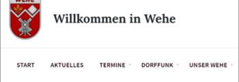 Digitalisierung startet mit DorfFunk und www.wehe-aktiv.de